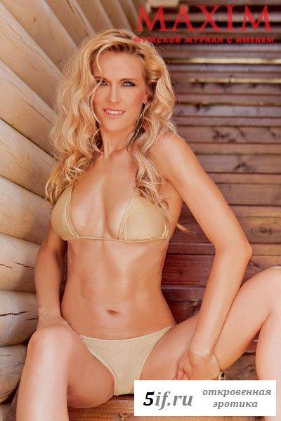 Чемпионка мира по волейболу Леся Махно в журнале Максим (5 фото)