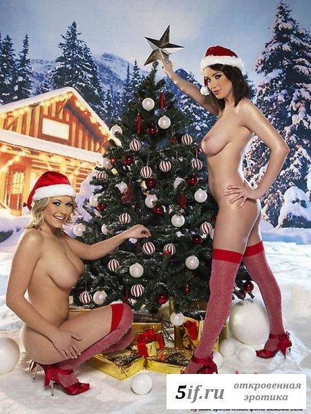 Обнаженные снегурки пристают к снеговику (10 фото)