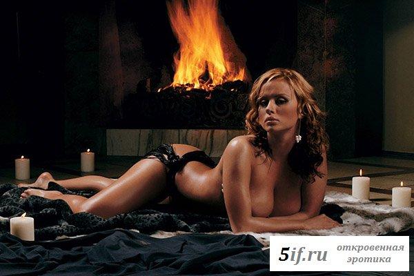 Знаменитая Анна Семенович в эротическом виде