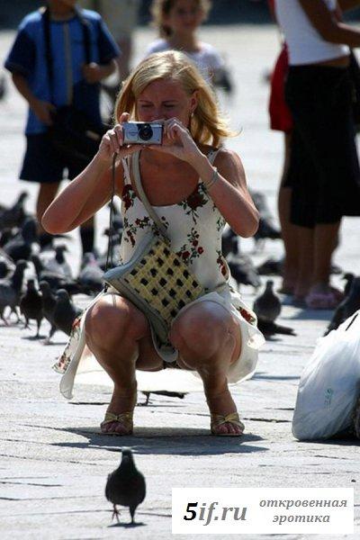 Папарацци ловят девушек без трусиков