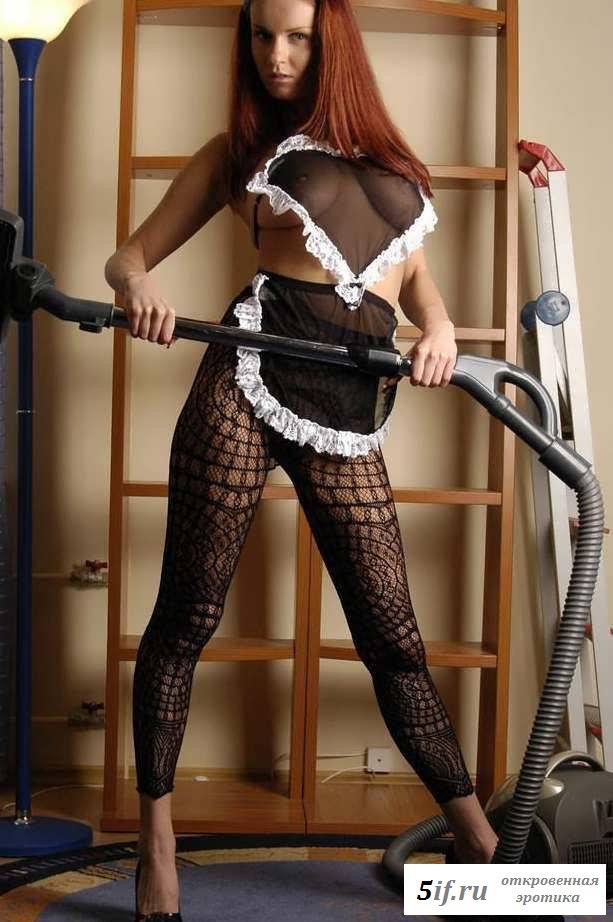Эротика служанки на металлической трубе (15 фото)