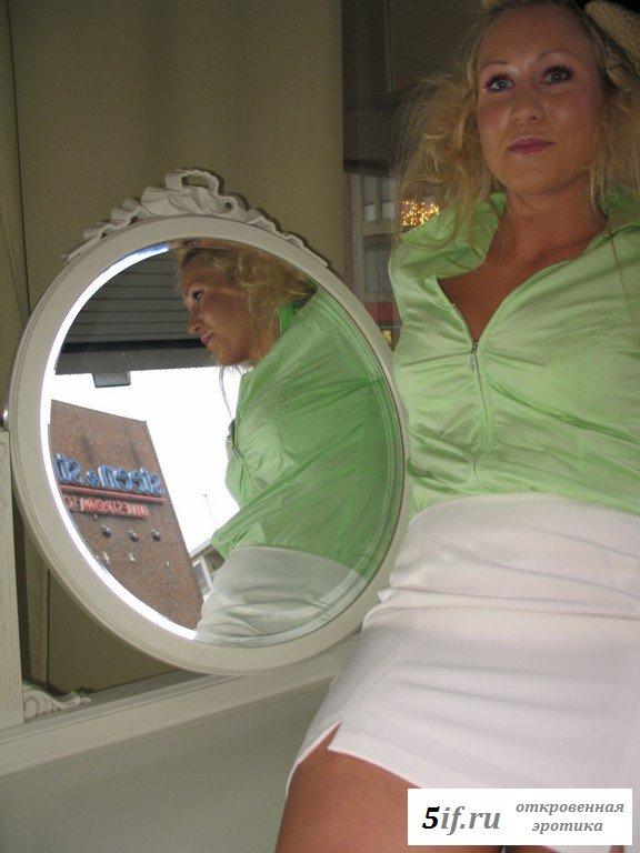 Личные снимки раздетой блондинки